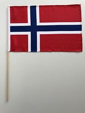Fahne Flagge Norwegen 30x45 cm mit Stab