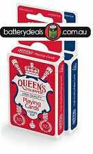 QUEEN'S Slipper 52's Playing Cards, Bridge Size, Blue/Red Decks, Casino Quality