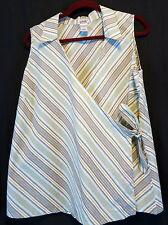Old Navy Maternity Green Striped Sleeveless Shirt