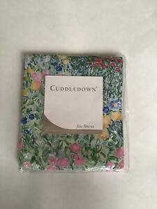 Cuddledown Sheet Full Flat 400 Thread Count MONET Floral Green New