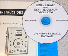 Bruel & Kjaer 1013 Beat Frequency Oscillator Manuals, Ops + Service+Schematics