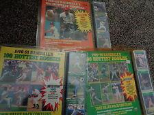 1989 SCORE BASEBALL - '90, '91 HOTTEST ROOKIES SETS (3) MLB SETS ! HOFers ! LQQK