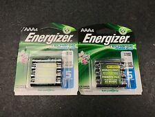 Energizer AAA 8 Rechargeable Batteries 2 Packs of 4 Batteries 800 mAh New Sealed