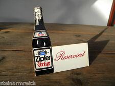 1x ZIPFER BIER URTYP RESERVIERT AUFSTELLER Brauerei Zipf Tischaufsteller ca.1970