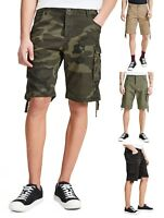 JACK & JONES Men Cargo Combat Shorts Cotton Summer Half Pant Casual Pocket Short