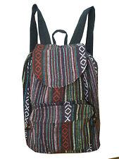 Rucksack Damenrucksack leicht Schule Backpack Hippie Retro Boho Baumwolle 32422
