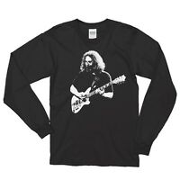 Grateful Dead _Jerry Garcia _ Tribute Long sleeve 100% Cotton T-shirt