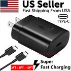 25W Type USB-C Super Fast Wall Charger+3/6/10FT Cable For Samsung Galaxy S20 S21
