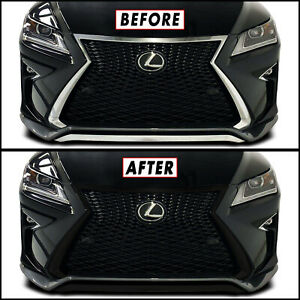 Chrome Delete Blackout Overlay for 2016-19 Lexus RX F Sport Front Grille Trim