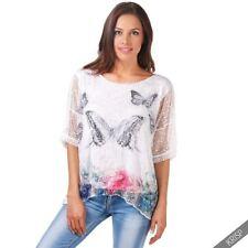 Camisas y tops de mujer de color principal blanco de punto