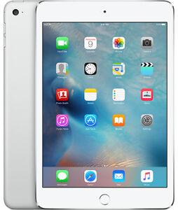 Apple iPad mini 4 128GB, Wi-Fi + Cellular (Unlocked), 7.9in - Silver