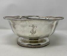 International Silver Silver Soldered Us Navy Crest Usn Serving Fruit Bowl