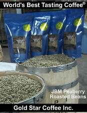 4 lbs - 100% Jamaica Blue Mountain Peaberry Coffee Green Beans - Home Roasting
