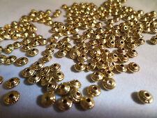 100 X Antiguo De Oro Plateado espaciador granos - 5mm-Cono