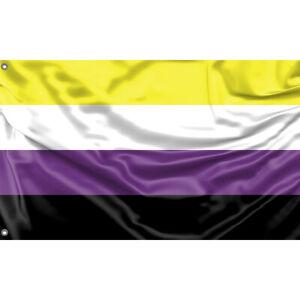 Non-Binary Flagge/Fahne Unikales Design 90x150cm