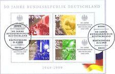 BRD 1999: BRD-50-Block Nr. 49 mit zwei Berliner Ersttags-Sonderstempeln! 1A!