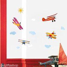 Propeller Plane WALL DECAL Room Stickers Bedroom Girls Boys Nursery Home Decor