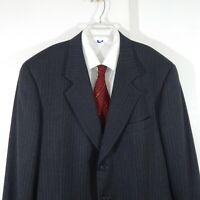ARMANI MANI jacket blazer sport coat pinstripe 100% wool charcoal gray long 46L