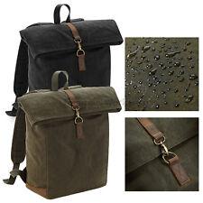 Quadra Heritage Waxed Canvas Backpack Waterproof Bag Premium Rucksack (QD655)