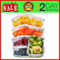 5-Pack,30oz Glass Meal Prep Containers -Food Prep Containers with Lids Meal Prep