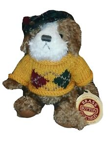 "Brass Button Collectibles 11"" jointed plush ""AUGIE Dog of Friendship"" With Tag"