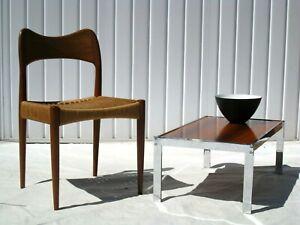 MERROW ASSOCIATES COFFEE TABLE ROSEWOOD CHROME RETRO STUNNING SUPERB VINTAGE 60s