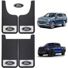 Ford Oval Logo Licensed Black 12X23 Front Rear Splash Guards Mud Flaps SUV Truck