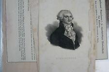 Druck Buchseite Robespierre Carl Mayer (N 63)