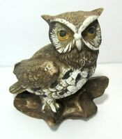 Vintage Homco Barn Owl Marked 1114 Ceramic Collectible Figurine             DCA