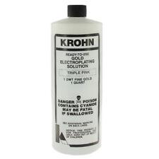 Krohn Rose Gold Plating Solution 14 Karat Triple Pink Electroplating One Quart