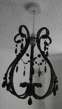 Black Jewel Beaded Chandelier Pendant Lamp Shade Ceiling Light Easy fit