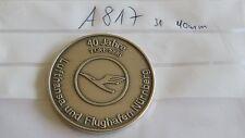 Medaille Lufthansa und Flughafen Nürnberg 40 Jahre 1996 silbern (A817-)