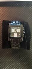 MEN'S KLAUS KOBEC ATLANTIC CHRONOGRAPH BLACK PVD BRACELET QUARTZ WATCH