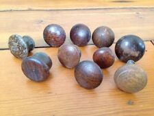 Mixed Lot 10 Antique Vintage Tiger Oak Cabinet Drawer Pulls Knobs Various Sizes
