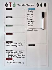 LARGE A3 MAGNETIC FRIDGE WHITEBOARD WEEKLY PLANNER NOTICE MEMO DRYWIPE BOARD NEW
