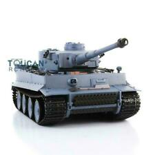 Henglong 1/16 6.0 Plastic Tiger I Rc Tank 3818 W/ Steel Gearbox Barrel Recoil