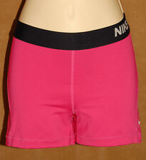 NIKE PRO - Pink & Black - Fitted Compression Athletic Yoga Running SHORTS sz M