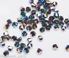 50pcs 6mm Twist Helix Glass Crystal Findings Loose Spacer Beads Colorized Plated