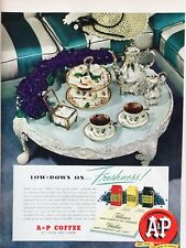 Original 1949 Print Ad A&P COFFEE Table Serves Eight O'Clock Red Circle Bokar