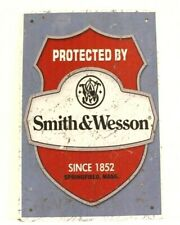New Smith & Wesson Tin Poster Sign Man Cave Vintage Ad Style Gun Shop Weapons