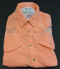 Columbia Sportswear Fishing Shirt Vented Back Embroidery Fish Fox  Size Medium