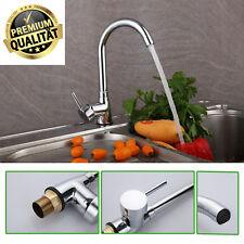 Modern Chrome Kitchen Tap Sink Basin Mono Bloc Single Lever Swivel Spout Mixe