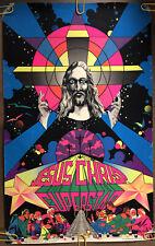 Original Vintage Blacklight Poster Jesus Christ Superstar 1971 Musical Promo 70s