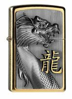 ZIPPO Benzin Feuerzeug Golden Dragon Emblem 2004517 NEU OVP