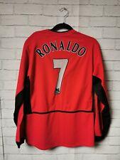 #7 RONALDO MANCHESTER UNITED 2003/04 HOME LONG SLEEVE FOOTBALL SHIRT - SMALL
