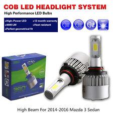 COB led light bulbs headlights White 6500K High Beam Fit 2014-2016 Mazda 3 Sedan