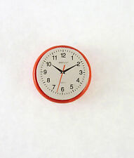 Dollhouse Miniature RED Kitchen Wall Clock, T8453