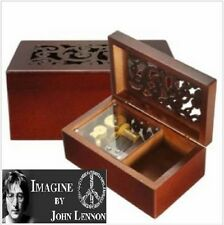 Solid Wood Miniature Hollow Music Box Jewelry Box:  Imagine - John Lennon