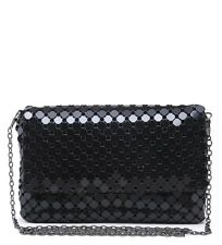 New In Stylish Fashion  Retro Style Black Clutch Bag With a Dark  Chain  Small