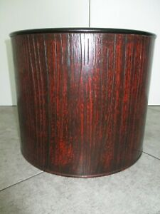 Red & Black Lacquered Wood Hibachi / Brazier; Circa 1890, Japan